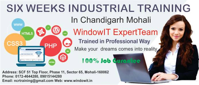 Windowit - Advance PHP Training in Chandigarh